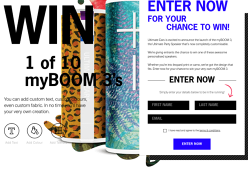 Win 1 of 10 myBOOM 3 Speakers!