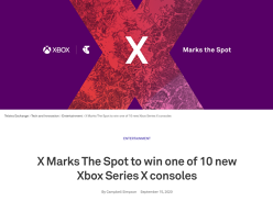 Win 1 of 10 new Xbox Series X consoles!