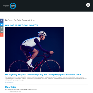 Win 1 of 10 Safe Cycling Kits