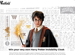 Win 1 of 120 Harry Potter Invisible Cloaks