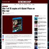 Win 1 of 15 copies of A Quiet Place on Blu-ray