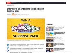 Win 1 of 15 Rainbocorn Series 2 Sequin Surprise packs!