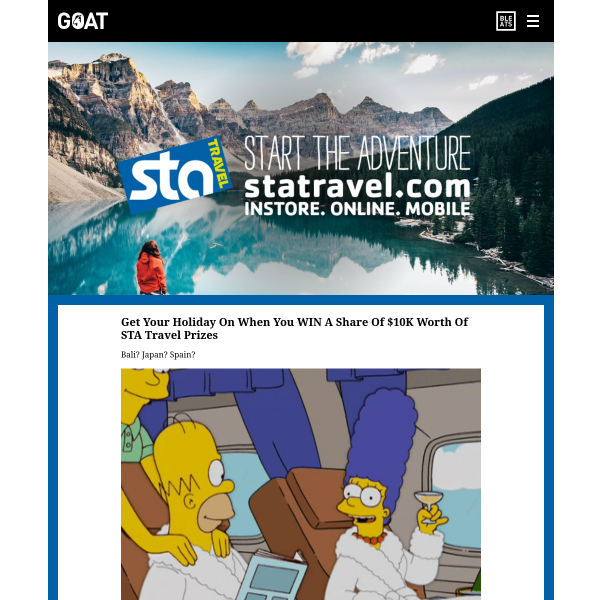 Win 1 of 154 $30-$1,000 STA Travel/ISIC Gift Cards