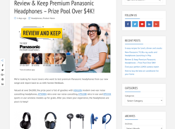 Win 1 of 16 Chances to Review and Keep a Pair of Panasonic Wireless Headphones