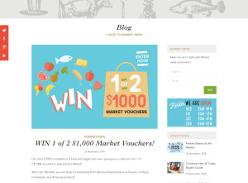 Win 1 of 2 $1,000 Market Vouchers