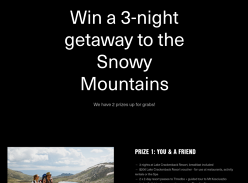 Win 1 of 2 Adventure Weekends in the Snowy Mountains