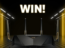 Win 1 of 2 ASUS RT-AX88U Dual Band Wi-Fi 6 Routers