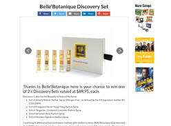 Win 1 of 2 Belle Botanique Fragrance sets