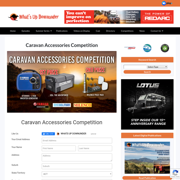 Win 1 of 2 Caravan Accessories packs!