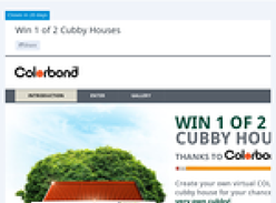 Win 1 of 2 cubby houses!