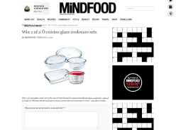 Win 1 of 2 Ô cuisine glass cookware sets