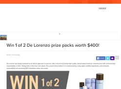 Win 1 of 2 De Lorenzo prize packs worth $400!