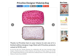 Win 1 of 2 designer bags with Priceline products