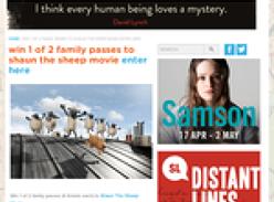 Win 1 of 2 family passes to shaun the sheep movie