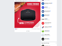 WIN 1 of 2 George Foreman easy to clean grills