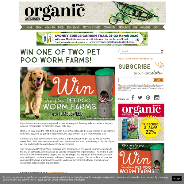 Win 1 of 2 Pet Poo Worm Farms!