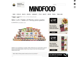 Win 1 of 2 Table of Plenty prize packs