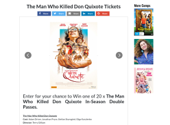 Win 1 of 20 DPs to see The Man Who Killed Don Quixote Tickets