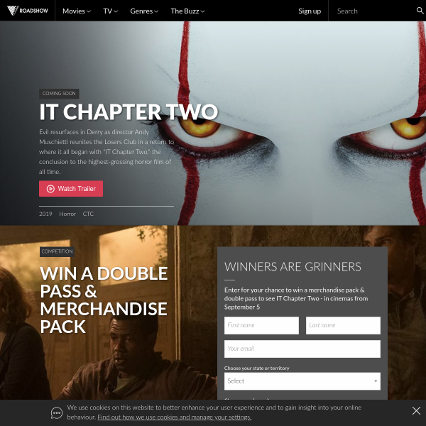 Win 1 of 20 IT Chapter Two Double Pass & Merchandise Packs Worth $182.83