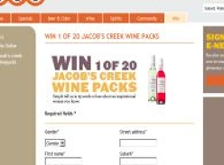 Win 1 of 20 Jacob's Creek wine packs!