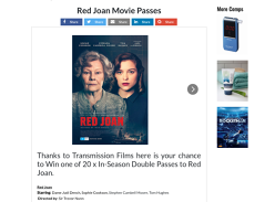 Win 1 of 20 Red Joan Movie Passes