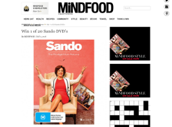Win 1 of 20 Sando DVD's