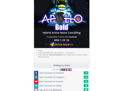 Win 1 of 20 Tronsmart Apollo Bold Earphones