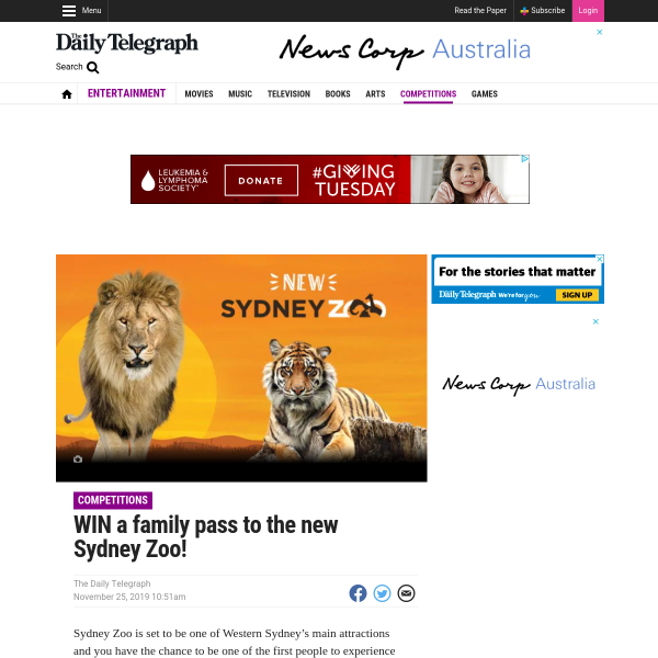 Win 1 of 200 Family Passes to an Exclusive Preview Day at Sydney Zoo