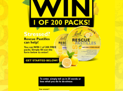 Win 1 of 200 Rescue Remedy Pastilles Twin Packs
