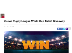 Win 1 of 25 double passes to Rugby League World Cup 2017