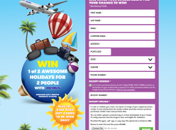 Win 1 of 290 Gift Cards or 1 of 2 Trips