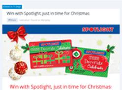 Win 1 of 3 $1,000 'Spotlight' gift cards!