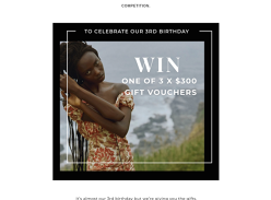 Win 1 of 3 $300 TNT Gift Vouchers!