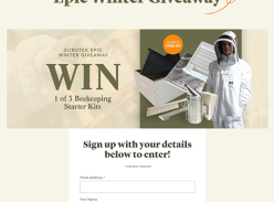 Win 1 of 3 Beekeeping Starter Kits