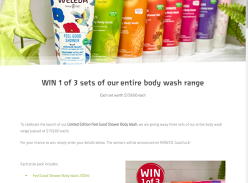 Win 1 of 3 Body Wash Prize Packs