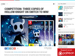 Win 1 of 3 Copies of Hollow Knight