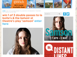 Win 1 of 3 double passes to the world premiere of 'Samson'