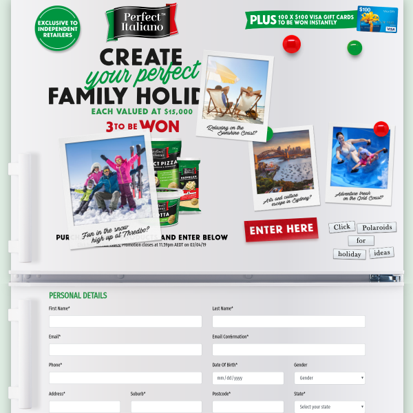 Win 1 of 3 Family Holidays & More