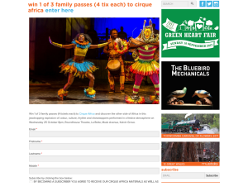 Win 1 of 3 family passes (4 tix each) to cirque africa