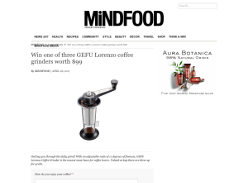 Win 1 of 3 GEFU Lorenzo coffee grinders worth $99 each!