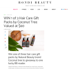 Win 1 of 3 Hair Care Gift Packs by Coconut Tree