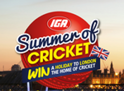 Win 1 of 3 holidaya to London, the home of Cricket!