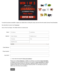 Win 1 of 3 How to Train Your Dragon: Hidden World Prize Packs