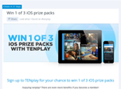 Win 1 of 3 iOS prize packs!