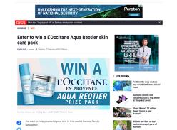 Win 1 of 3 LOccitane Aqua Reotier skin care packs!
