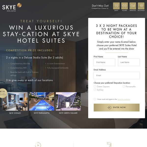 Win 1 of 3 Luxury Hotel Stays