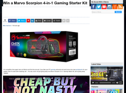Win 1 of 3 Marvo Scorpion 4-in-1 Gaming Starter Kits