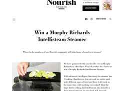 Win 1 of 3 Morphy Richards Intellisteam Steamers