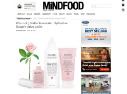 Win 1 of 3 Natio Rosewater Hydration Range's prize packs
