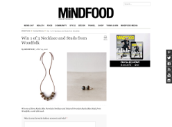 Win 1 of 3 Necklace & Studs from Woodfolk!